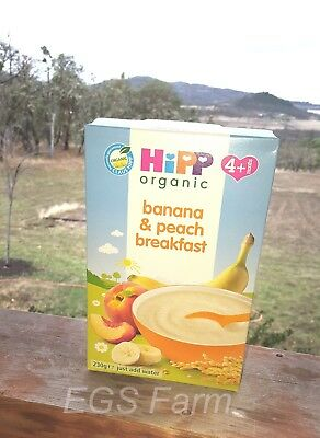 Hipp Organic Banana and Peach Breakfast Cereal, just add water