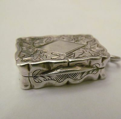 Antique Victorian Silver Miniature Vinaigrette