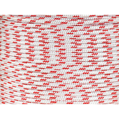 YACHTING BRAID 10MM X 200M RED FLECK - Yacht Rope Sailing Rope - Dinghy Line