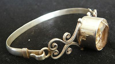 Golden Topaz Antique Style Hand Crafted Bangle SILVER 92.5 (New)