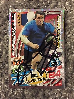 Signed Louis Picamoles France Rugby Attax 2015 Star Player Card