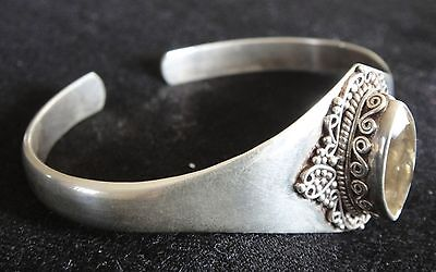 Marquise Cut Golden Topaz Antique Style Hand Crafted Bangle SILVER 92.5 (New)