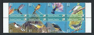 2002 ST.LUCIA Birds of the Carribean Set MNH (SG 1302-1309)