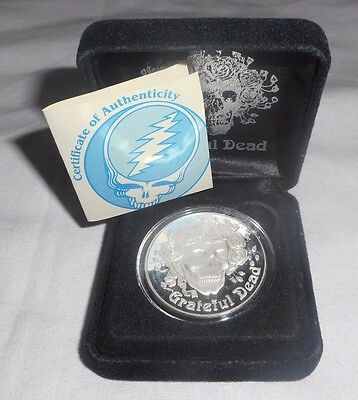 Skull & Roses Grateful Dead Silver Commemorative Coin 1 Troy Ounce #436 Of 5000