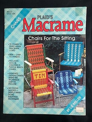 Vintage Plaid's Macrame Chairs for the Sitting 1987 Lawn Chairs Liz Miller