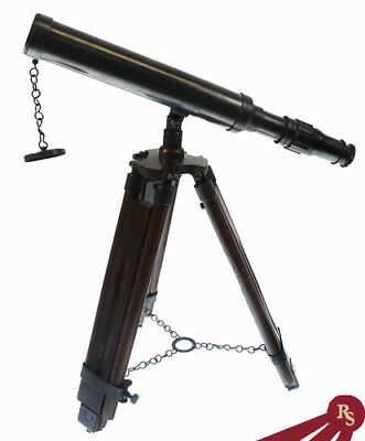 BRASS DESKTOP TELESCOPE - With Tripod - NAUTICAL SCOPE