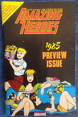 Amazing Heroes #62 - January 1985 - 1985 Preview Issue! High Grade!