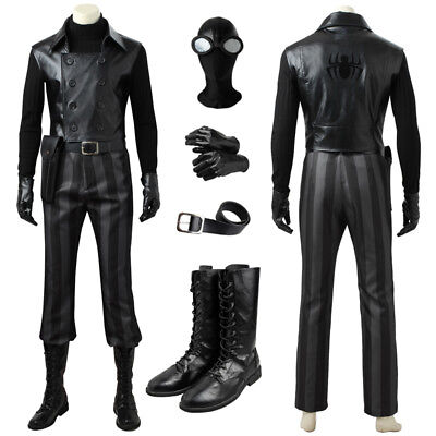 Avengers SpiderMan Noir Peter Parker Cosplay Costume Custom Made