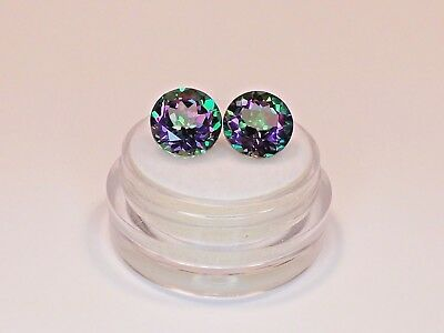 Sale Matched Pair of Mystic Topaz from scrap gold silver vintage jewelry