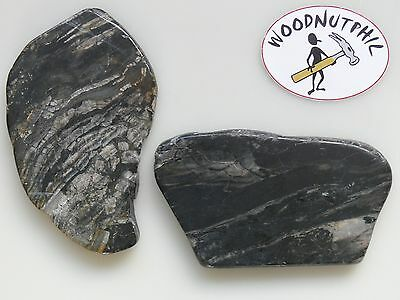 Hard Stone Slab Pack 7 of 2 pieces - Total Weight 445g - Cabbing Stone Lapidary