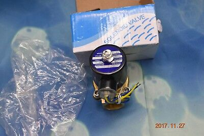 2W-200-20 3/4 Inch Brass Electric Solenoid Valve Water Air Fuels N/C DC 12V hv2n