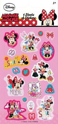 MINNIE MOUSE Party Stickers (6 Sheets) - Loot Bag Fillers
