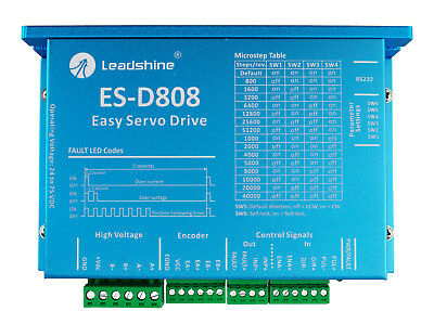 ES-D808 Leadshine Servo Stepper Motor Driver 24-80VDC 0.5-8.2A For CNC Kits
