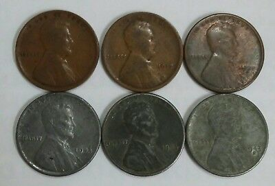 1909 V.D.B Lincoln Wheat 1 cent and 5 other harder dates must see description