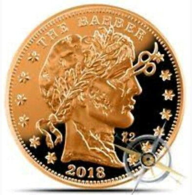"2018 1 OZ ""ZOMBUCKS THE BARBER"" .999 Pure Copper Bullion Round scarse"