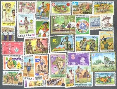 Scouts 300 all different stamps collection