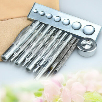 11pcs Die Punch Tool Snap Rivet Setter Base Kit For DIY Leather Craft Tools
