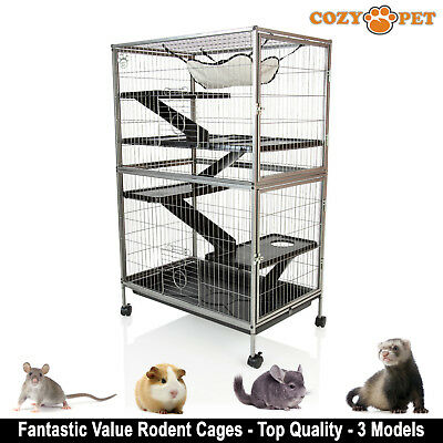 Cozy Pet Rodent Cage for Rat, Ferret, Chinchilla, Degu or other Small Pets RC02