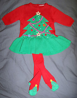 Beautiful Baby Girls Christmas Dress Set From Next Bnwt In Size Up To 3 Months
