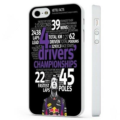 Sebstian Vettel F1 Racing WHITE PHONE CASE COVER fits iPHONE