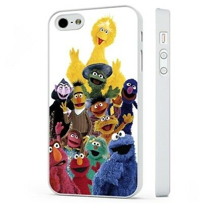 Sesame Street Characters Cookie Elmo WHITE PHONE CASE COVER fits iPHONE