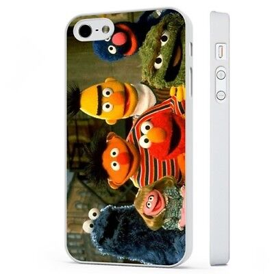 Sesame Street Muppets Elmo Cookie Monster WHITE PHONE CASE COVER fits iPHONE
