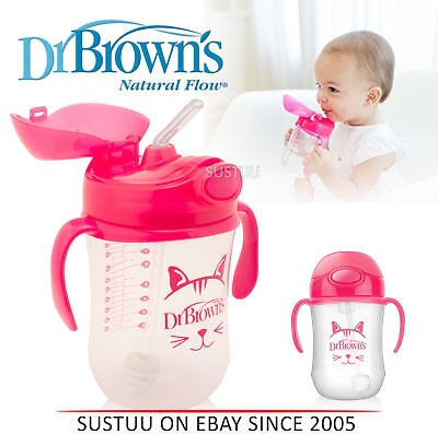 Dr Brown's Baby First Straw Training Spill Proof Easy Transition Kids Siippy Cup