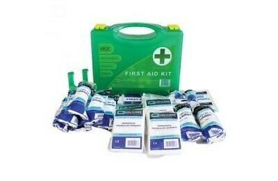HSE Compliant 1-10 Person Easy Access First Aid Kit Includes Wall Bracket CE