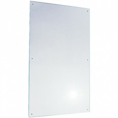 600mm W x 750mm H - Bradley 748 Polished Stainless Steel Mirror in No Frame