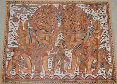 Tabing temple wall hanging from Kamasan village Bali Indonesia Indonesie 1950s