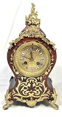 Antique French VINCENTI & CO Antique Boulle Clock MEDAILLE D'ARGENT WORKING N01