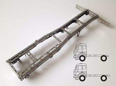 Chassis Frame 4x2 SuperShort for Tamiya 1/14 truck STEEL