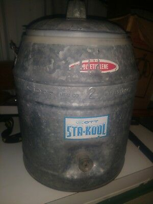Vintage Igloo Standard 2 Gallon galvanized  Water Cooler