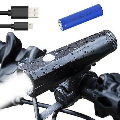 T6 LED MTB Bike Cycle Headlamp Front Light Torch USB Rechargeable 18650 Battery