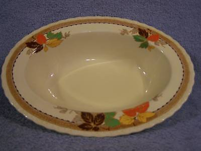 Myott Leaflet 1936 Oval Vegetable Serving Bowl 10.5""