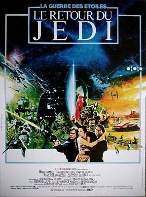 THE RETURN OF THE JEDI Affiche Cinéma 53x40 Movie Poster STAR WARS R1990