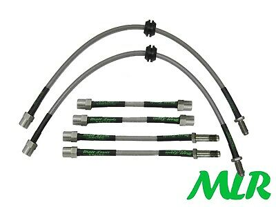 Bmw 1 Series E81 E82 E87 E88 Stainless Steel Braided Brake Lines Hoses Pipes Bcj
