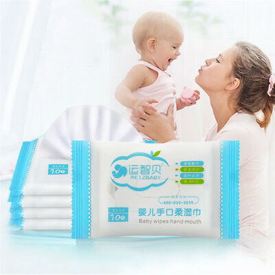 Portable Baby Wet Tissue Wipes Newborn Baby Soft Natural Wet Wipes