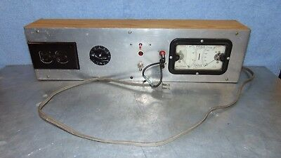 Vintage DC Milliamperes AC Volts Tester Homemade Electrical Man Cave Display