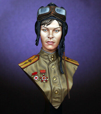 █ 1/10 Resin Soviet Female Tanker Figure Bust Unpainted TS308