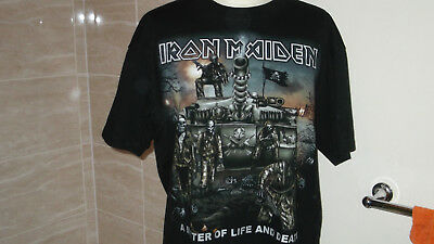 IRON MAIDEN...MATTER OF LIFE AND DEATH...T-Shirt...   Large