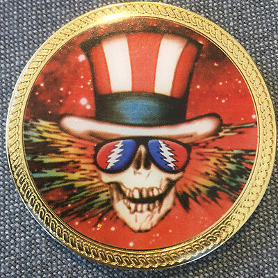 Grateful Dead Coin Uncle Sam Steal Your Face Jerry Garcia Collectible