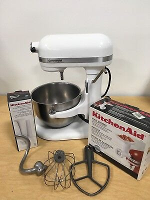 KitchenAid Commercial KM25G Mixer w/ bowl, whisk, paddle, hook, & More!
