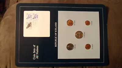 Coin Sets of All Nations Iceland w/card all 1981 UNC 2-100 + 200