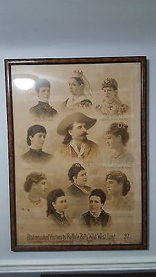 William F Buffalo Bill Cody Wild West, 1887 Color Lithograph Poster by A. Hoen