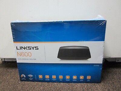 NEW SEALED LINKSYS N600 E2500 Dual Band Wireless N 4-Port Wi-Fi Router  E2500-NP