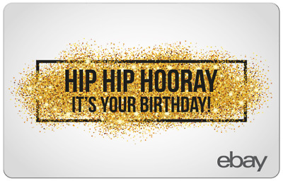 Hip Hip Hooray Happy Birthday eBay Digital Gift Card $25 to $200 -Email delivery