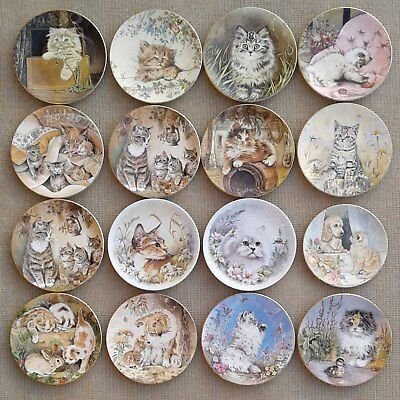 Royal Worcester - Selection Of Bone China Cat Plates.