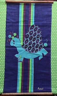 ACCENT vintage TURTLE wallhanging hanging 1960s 1970s Australian retro Groovy