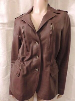Belle Veste  Cuir Marron Gerard Darel /t  38/40/leather Jacket